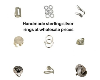 Wholesale silver rings, sterling silver rings, statement rings, rings lots, wholesale large rings, wholesale stacking rings, adjustable ring