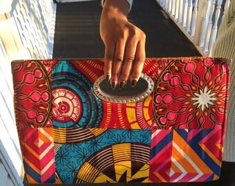 African clutch/Ankara/African purse/ African fabric