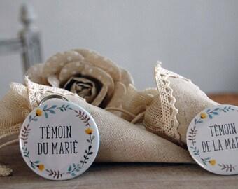 Duo gift wedding witness bottle opener, Pocket mirror