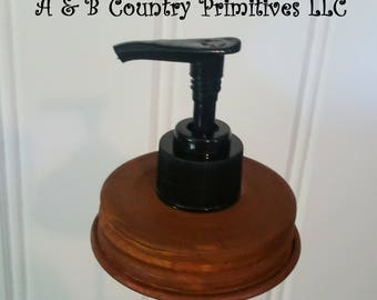 Mason Jar Soap Dispenser Lid and Pump Combo, Country Primitive Home Decor, Crafts, DIY