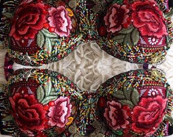 Gypsy Rose Fortune Teller Rave Bra Top