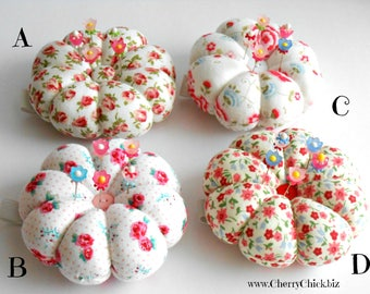 Wrist Pincushion with Decorative Sewing Pins - Gift for Quilter - Gift for Seamstress - Wrist Pincushion - Flower Pincushion - Pin cushion