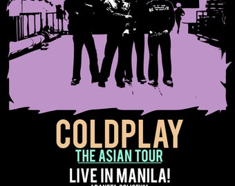 Vintage Music Art - Coldplay The Asian Tour 0645