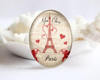 Handmade Oval Photo glass Cabochons-Eiffel 30x40mm 18x25mm 13x18mm 10x14mm (P2433)