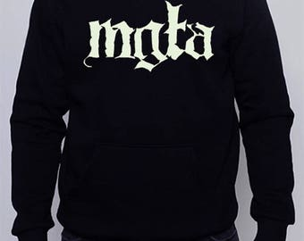 Hoodie embroidery Destroyer 666 logo black metal band 75qd3S