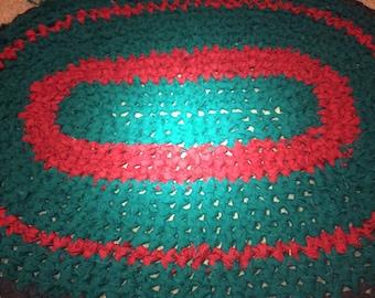Oval rag rug
