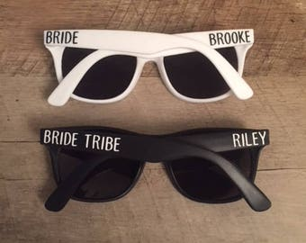 Bride Tribe Sunglasses - Bachelorette Party Sunglasses - Custom Sunglasses - Personalized Sunglasses - Bride and Bride Tribe Sunglasses