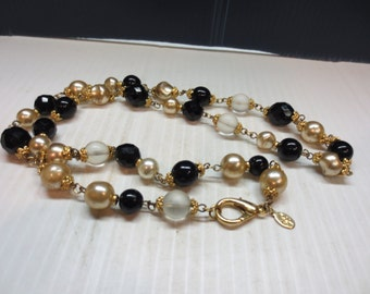 Beautiful High Quality Bead And Crystal Necklace by K.J.L.