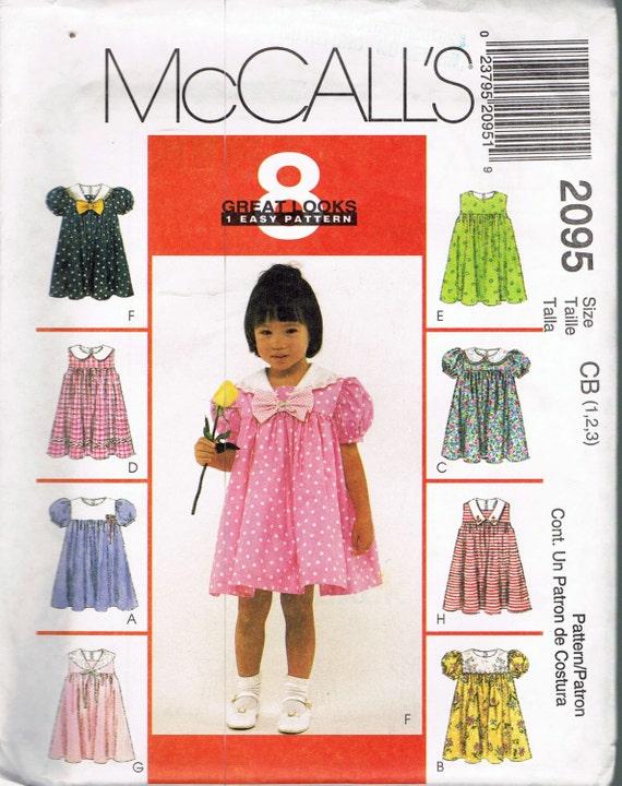 Tamaño vestido fácil coser patrón - vestido con mangas abullonadas ...