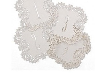 Laser Cut Table Cards for Wedding Reception and Parties (Number 1-10)