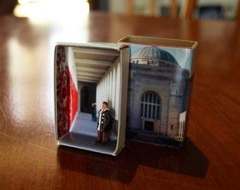 Matchbox Building: Matchbox Miniature of the Australian War Memorial, Canberra, Australia.