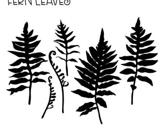 Cutting Flats: Fern Leaves 01 in SVG and DXF Format