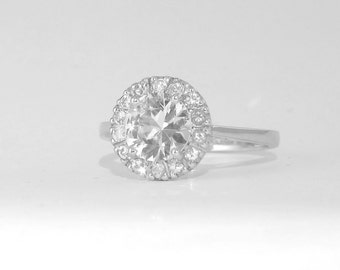 Handmade Natural 1 carat white Sapphire ring, Silver handmade engagement ring    P-041