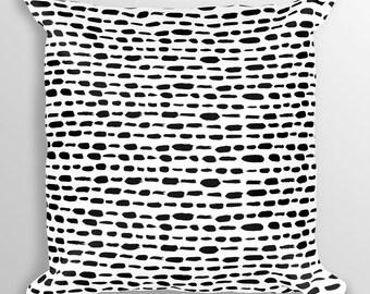 Black and white print pillow Black spot pillow Animal print pillow Dotted pillow Black polka dot pillow Designer pillows Modern pillow 18x18