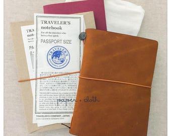 Camel Travelers Notebook Passport Size Starter Kit
