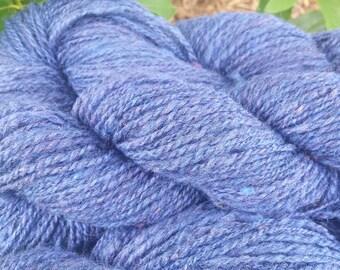 Handspun Shetland Wool Yarn Periwinkle Blue