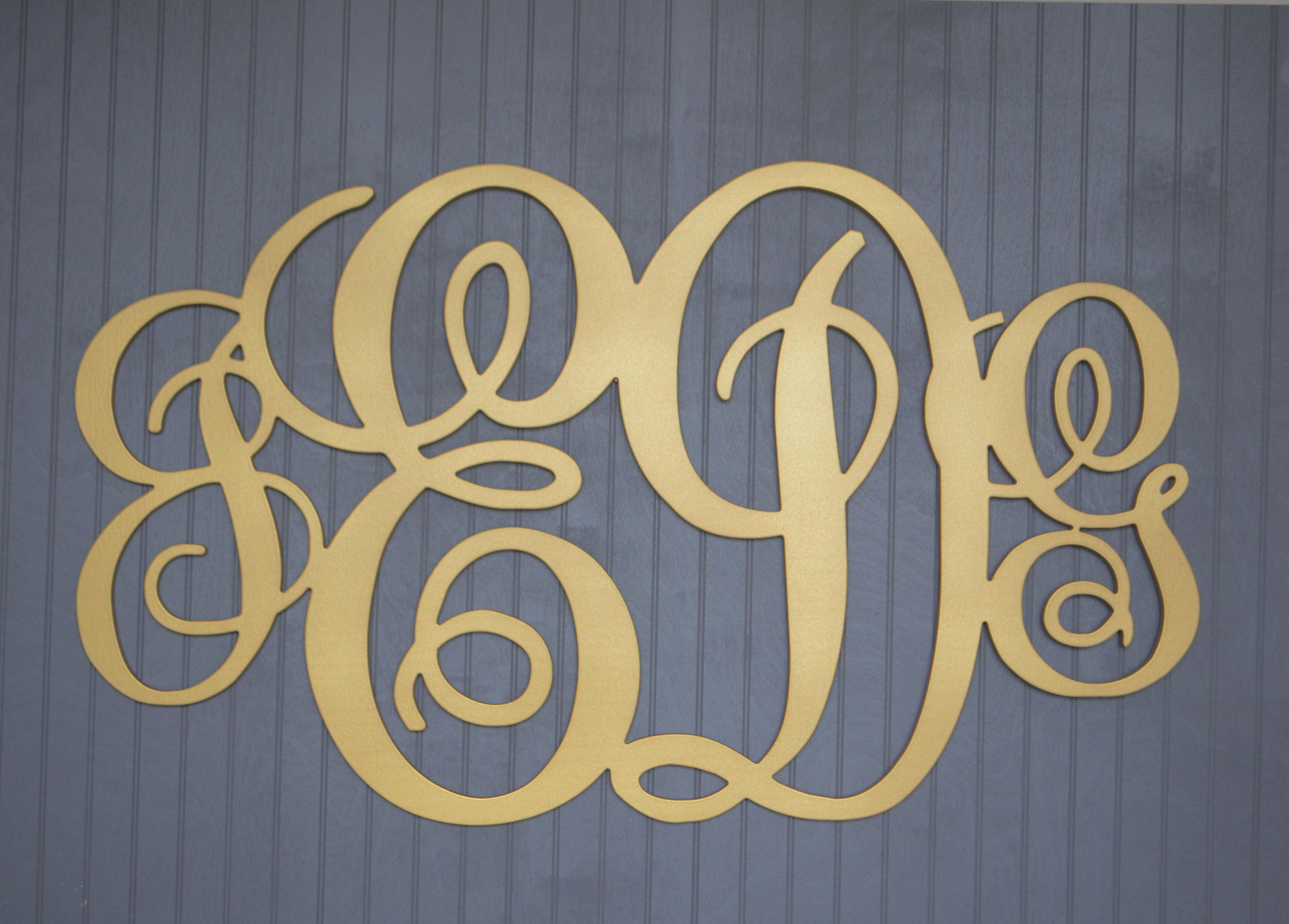 Colorful Wooden Monogram Wall Decor Gift - Wall Art Collections ...