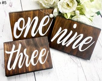 Rustic Wedding Table Numbers. Wedding Table Number. Table Numbers. Rustic Wedding Decor. Wedding Reception Decor. Table Number Wedding.