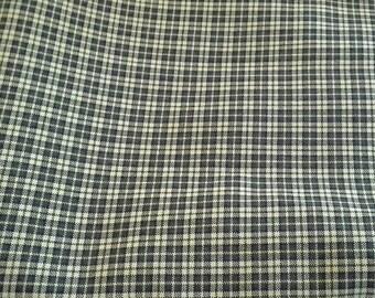 Black and Yellow Plaid Soft Fabric 2 Yards X1136