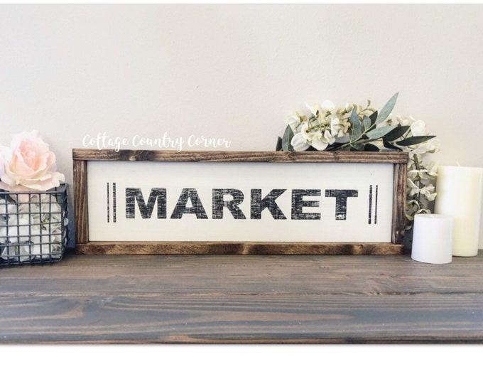 Market sign - Wood Market Sign - farmhouse decor - farmhouse kitchen - farmhouse kitchen decor - kitchen decor - home decor - farmhouse home