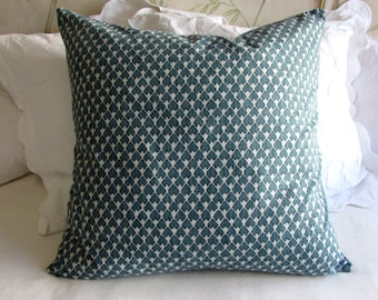 DIEGO pillow cover 18x18 20x20 22x22 24x24 26x26 13x26 12x20 prussian blue