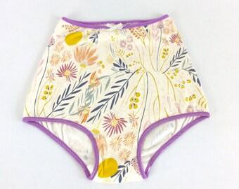 littlefour women's high waisted floral panties