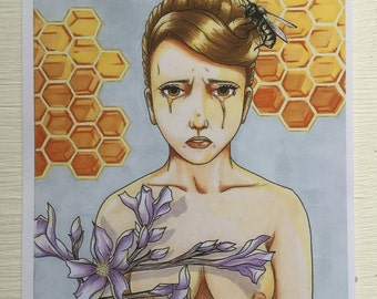 Save The Bees - Art Print - 7x5