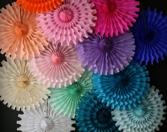 Tissue Paper Fan fiesta Mexican Wedding decorations alice in wonderland first Birthday Party Photo shoot booth prop backdrop office reusable