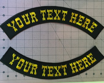 Custom Rockers and Banners for Motorcycle Jacket/Vest/Denim - Iron or Sew - 2 sizes