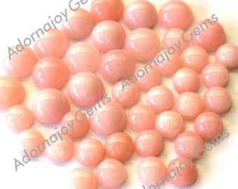 Gemstone Cabochon Opal Pink 4mm Round FOR LAST THREE