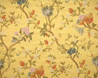 5,5 yards Scalamandre Colony Melograno Maize silk lampas fabric (also available by the yard)
