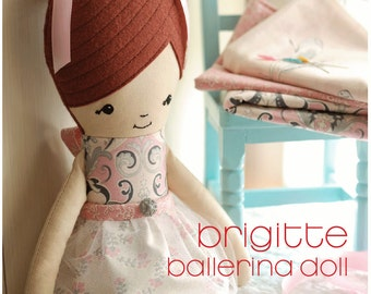 Ballerina Doll Sewing Pattern Instant Download PDF doll pattern