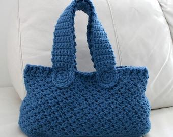 Crochet bag pattern, INSTANT DOWNLOAD, crochet handbag pattern vintage retro denim bag pattern, market tote handbag pattern (73)
