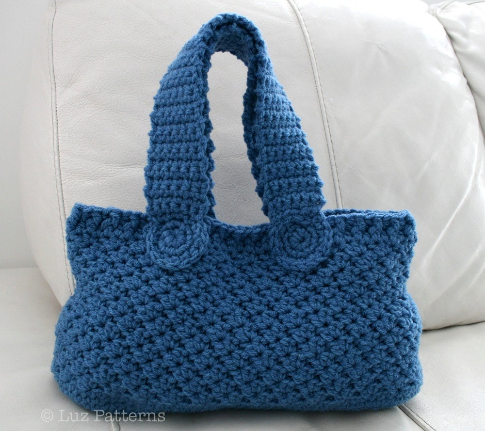 Crochet bag pattern, INSTANT DOWNLOAD, crochet handbag pattern ...