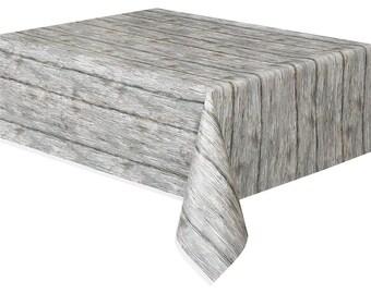 Wood Look Table Cover, Rustic Wood Look Table Cover, Rustic Table Cover, Rustic Wedding, Rustic Tableware, Boho Wedding Decor