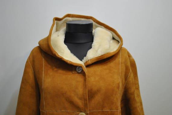WOMEN'S HOODED coat Vintage winter LAMBSKIN 546 AEcqH