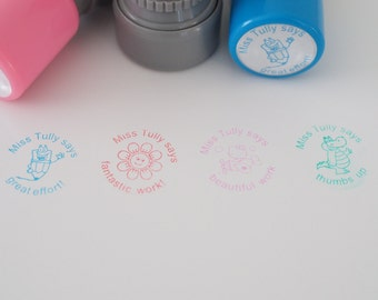 Teacher Personalised Encouragement Stamp