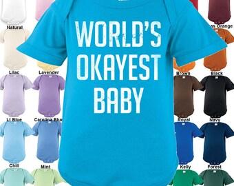 World's Okayest Baby Bodysuit - Boys / Girls