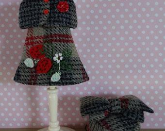 Strawberry Wool Capelet Dress Set * Blythe * Pullip *