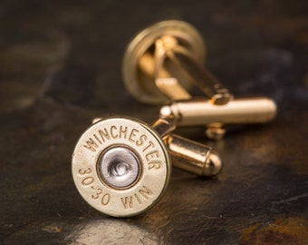 Bullet Cufflinks, Winchester 30-30 Brass Bullet Cufflinks, Wedding Cufflinks, 30-30 Cufflinks, Bullet Cuff Links, Wedding Cuff Links
