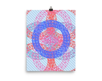 Centred Blue Poster