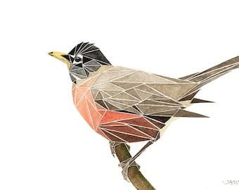 geometric american robin