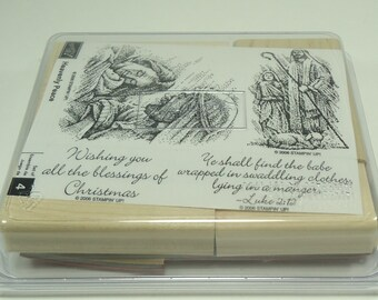 Heavenly Peace Wood Mounted Rubber Stamp Set From Stampin Up