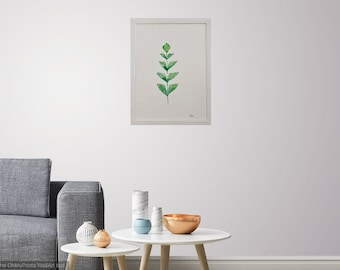 Watercolour Fishtail Palm Leaf (frame not included)