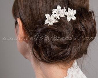 Bridal Hair Comb, Rhinestone Wedding Headpiece, Bridal Hair Piece, Wedding Hair Accessory - Bree