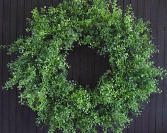 """Everyday Greenery Wreath for Front Door - 24"""" Diameter"""