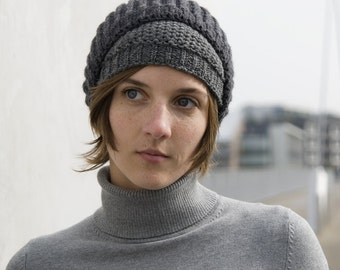 double hat made from merino and cashmere