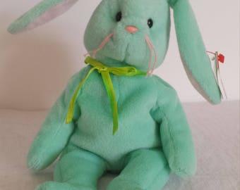 Rare Vintage Hippity TY Beanie Baby wih errors, Vintage Bunny Toy, HippityRabbit Beanie Baby, Retired Beanie Baby, Rare Error Beanie Baby