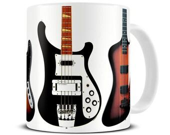 Bass Guitar Collection Coffee Mug - gift for dad - father's day gift - guitar mug - MG295