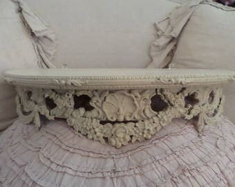 Stunning Antique French Louis Xv Ornate Bed Canopy Roses Shabby Chic